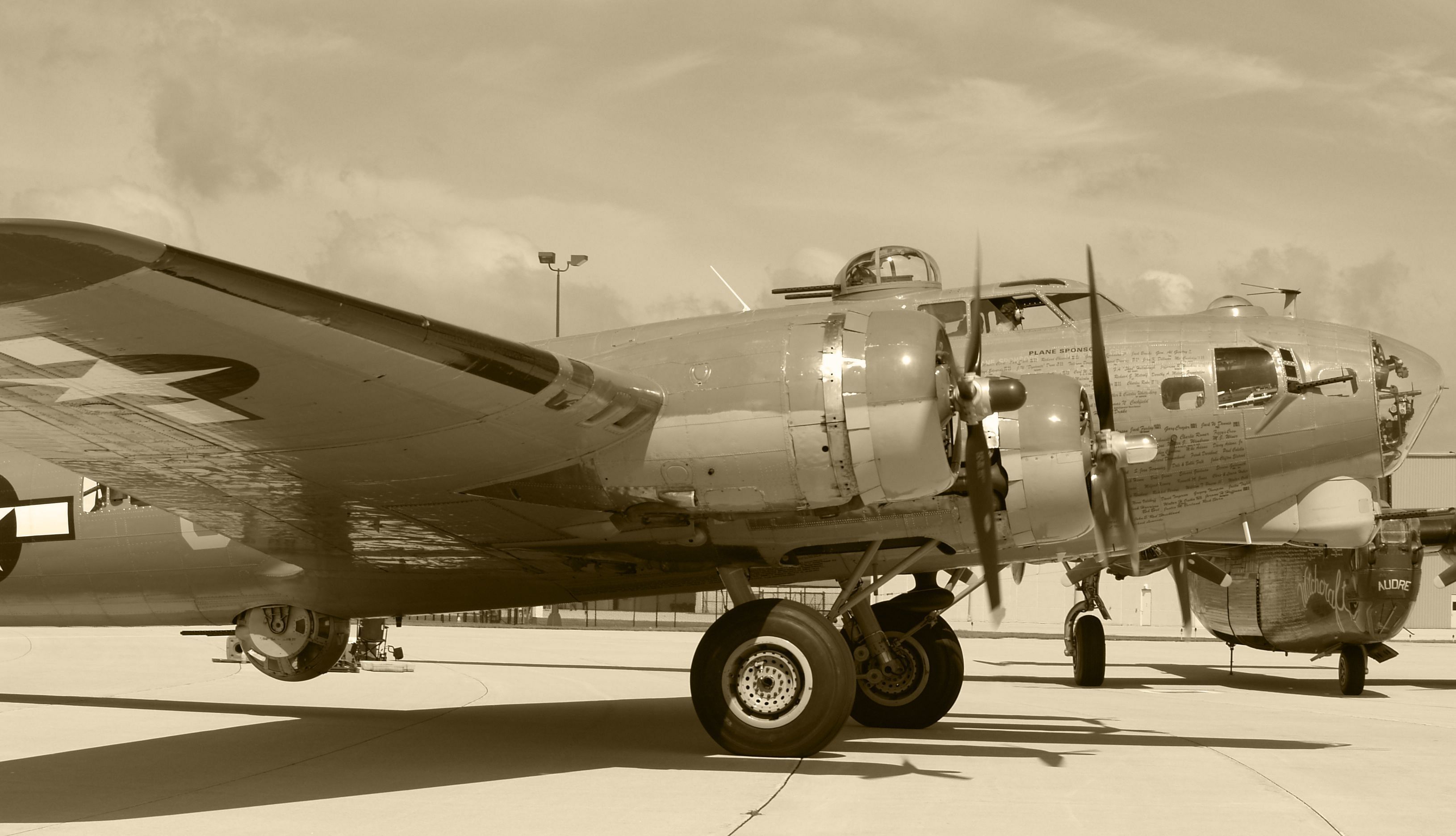 Aircraft sepia HD Wallpaper