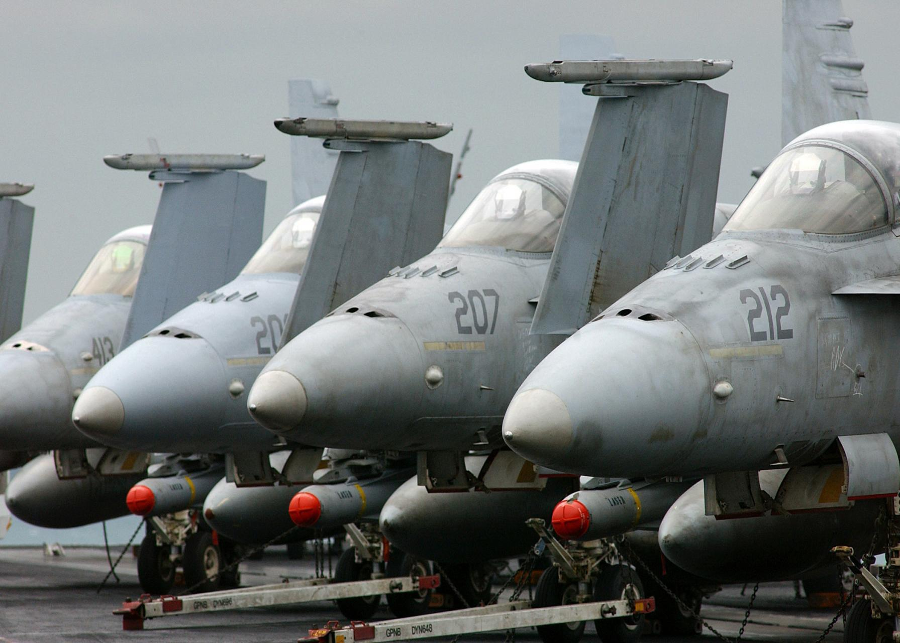 Aircraft vehicles F-18 hornet