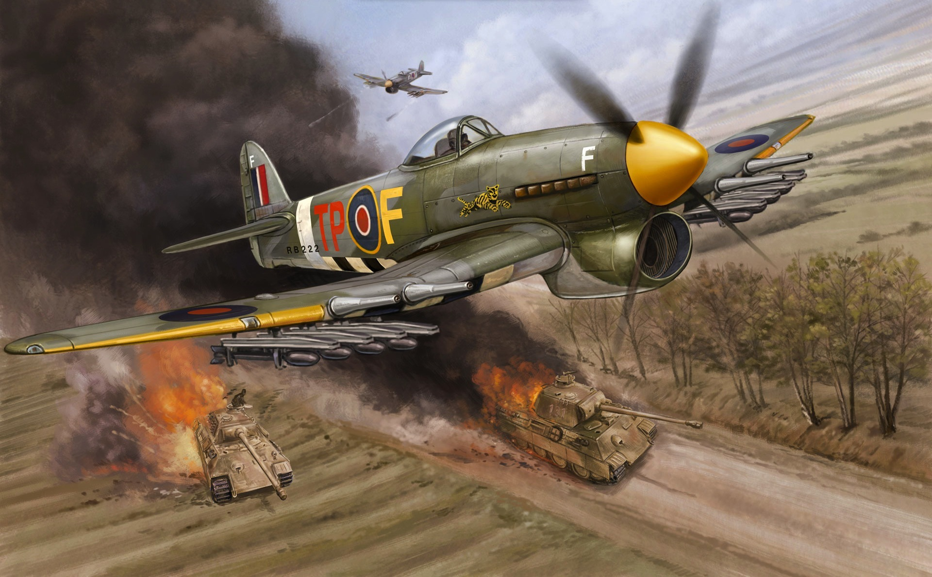 Aircraft War military art HD Wallpaper