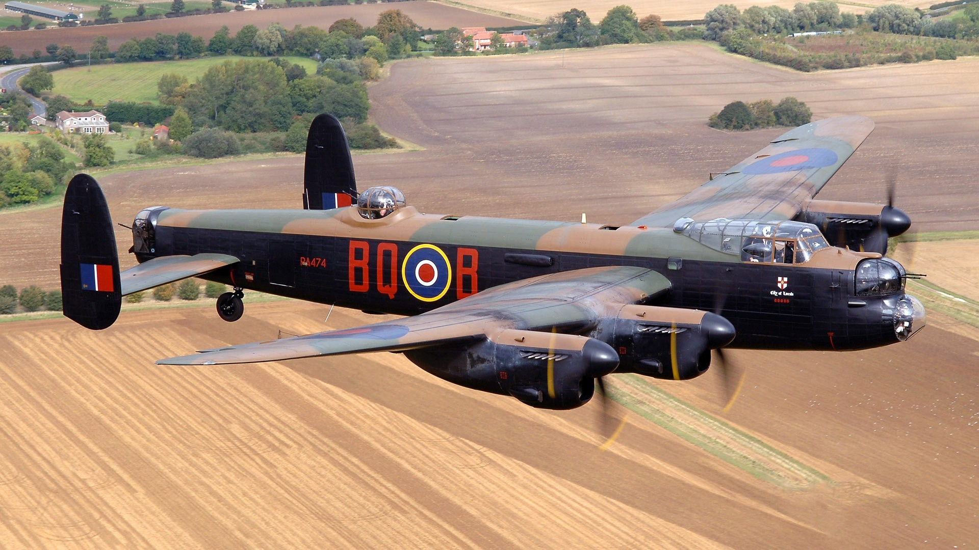 airplanes bomber Lancaster HD Wallpaper