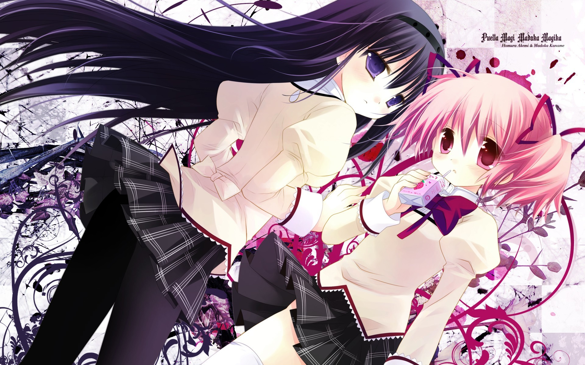 akemi homura purple eyes HD Wallpaper
