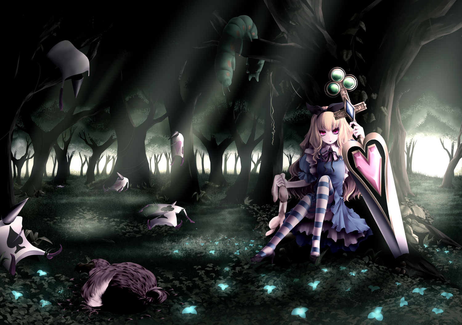 Alice in Wonderland Anime HD Wallpaper