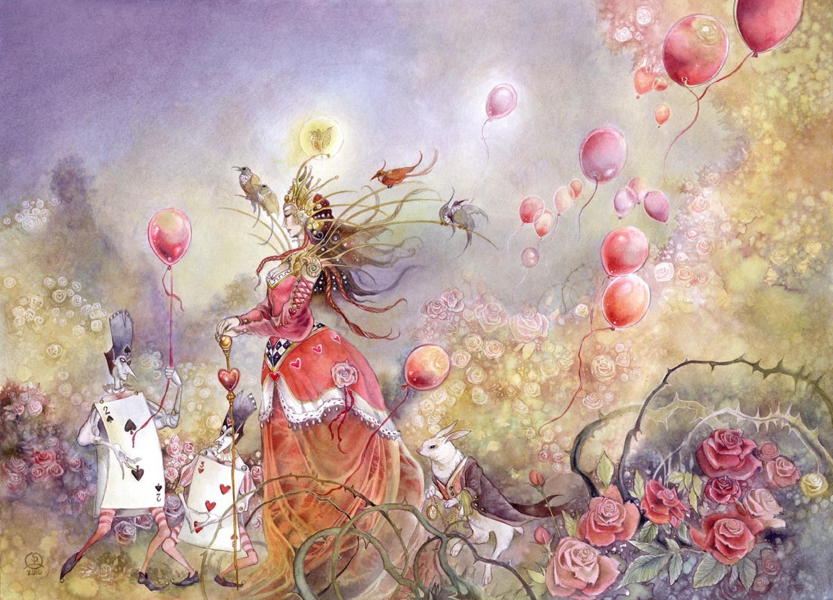 Alice in Wonderland fantasy HD Wallpaper