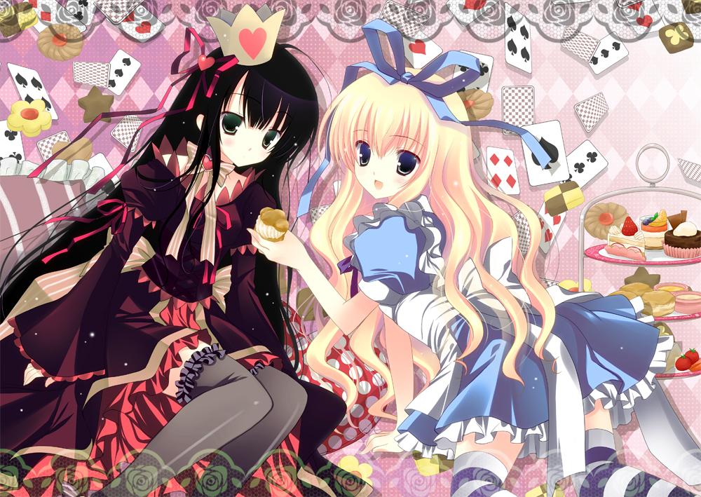 alice in wonderland queen of hearts anime girls HD Wallpaper