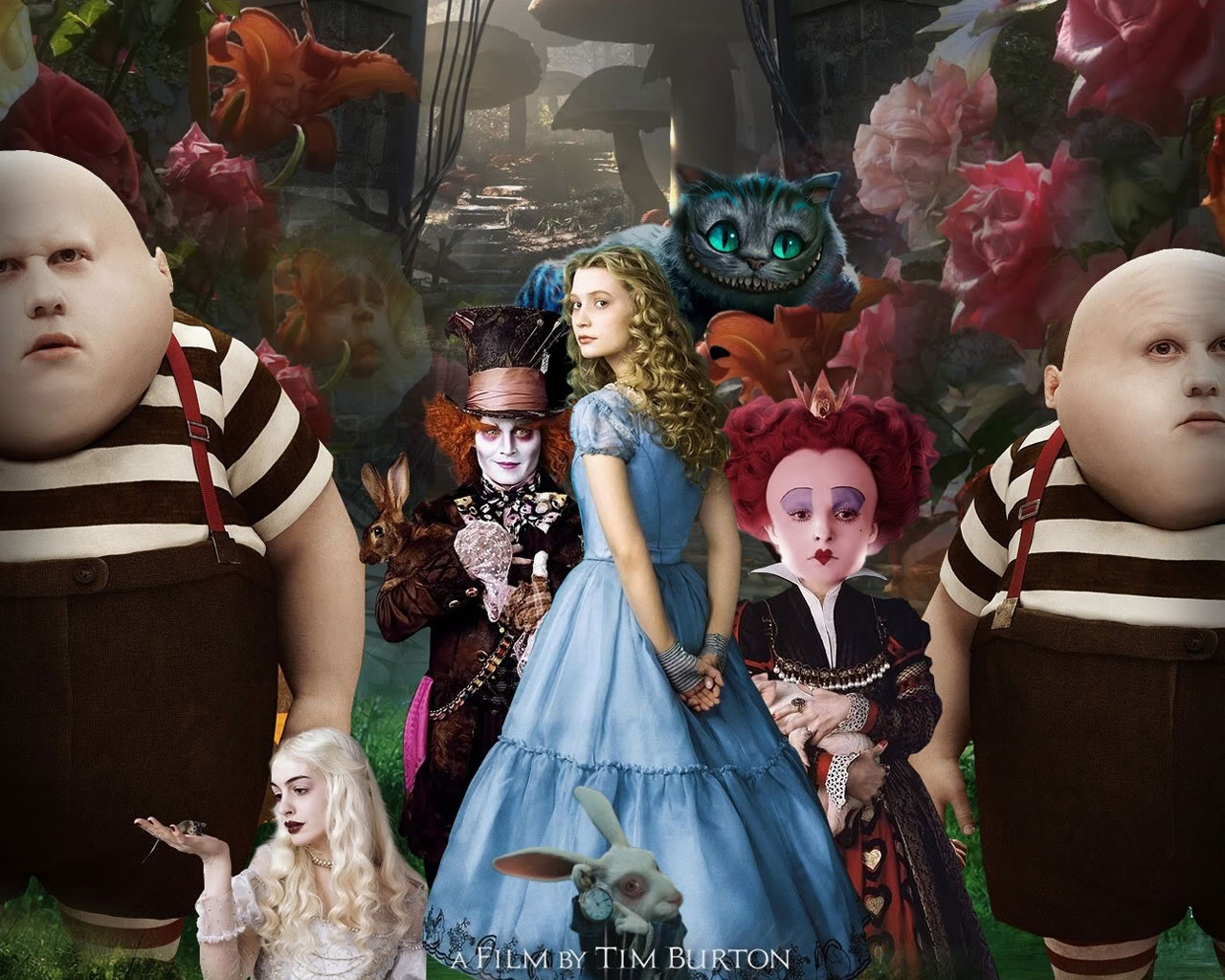 Alice in Wonderland White HD Wallpaper