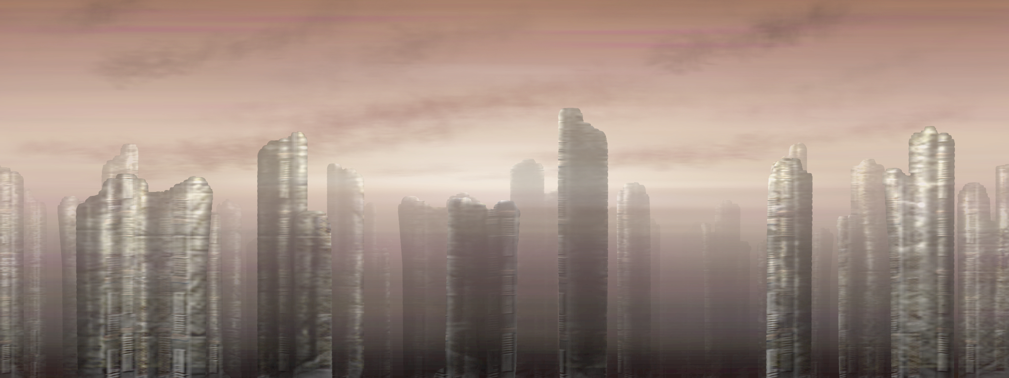 alien City scape HD Wallpaper