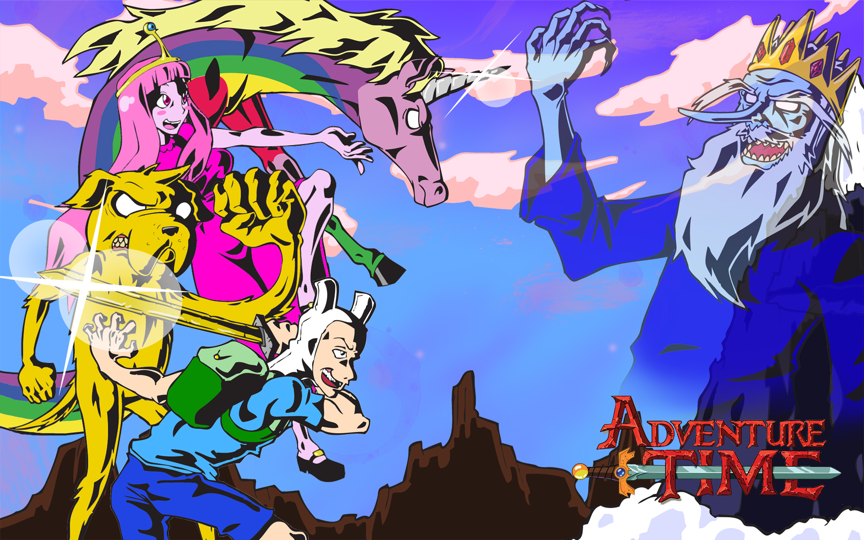 alternative art adventure time HD Wallpaper