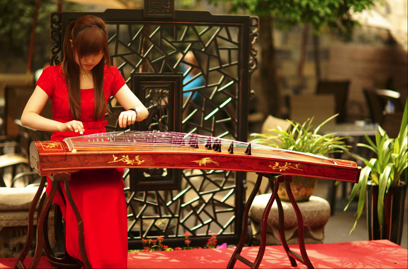 an ancient Chinese instrument HD Wallpaper