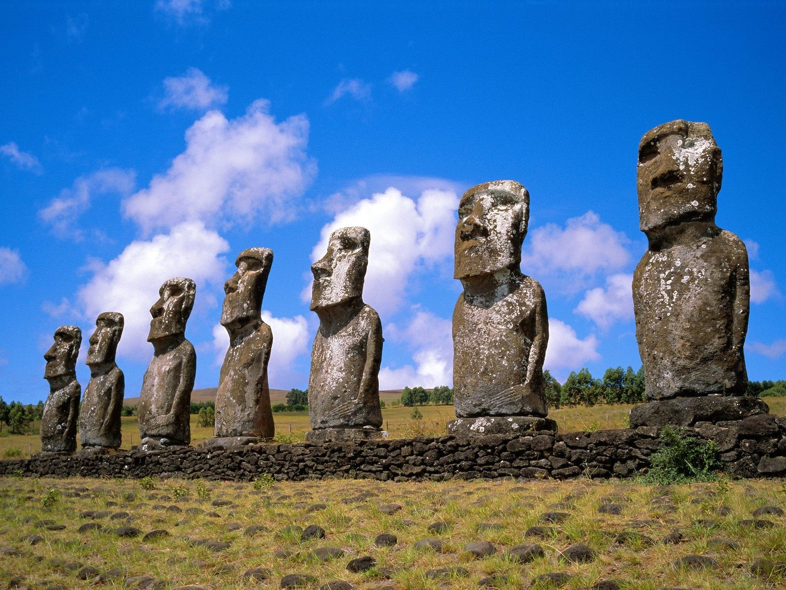 ancient Easter Island moai HD Wallpaper
