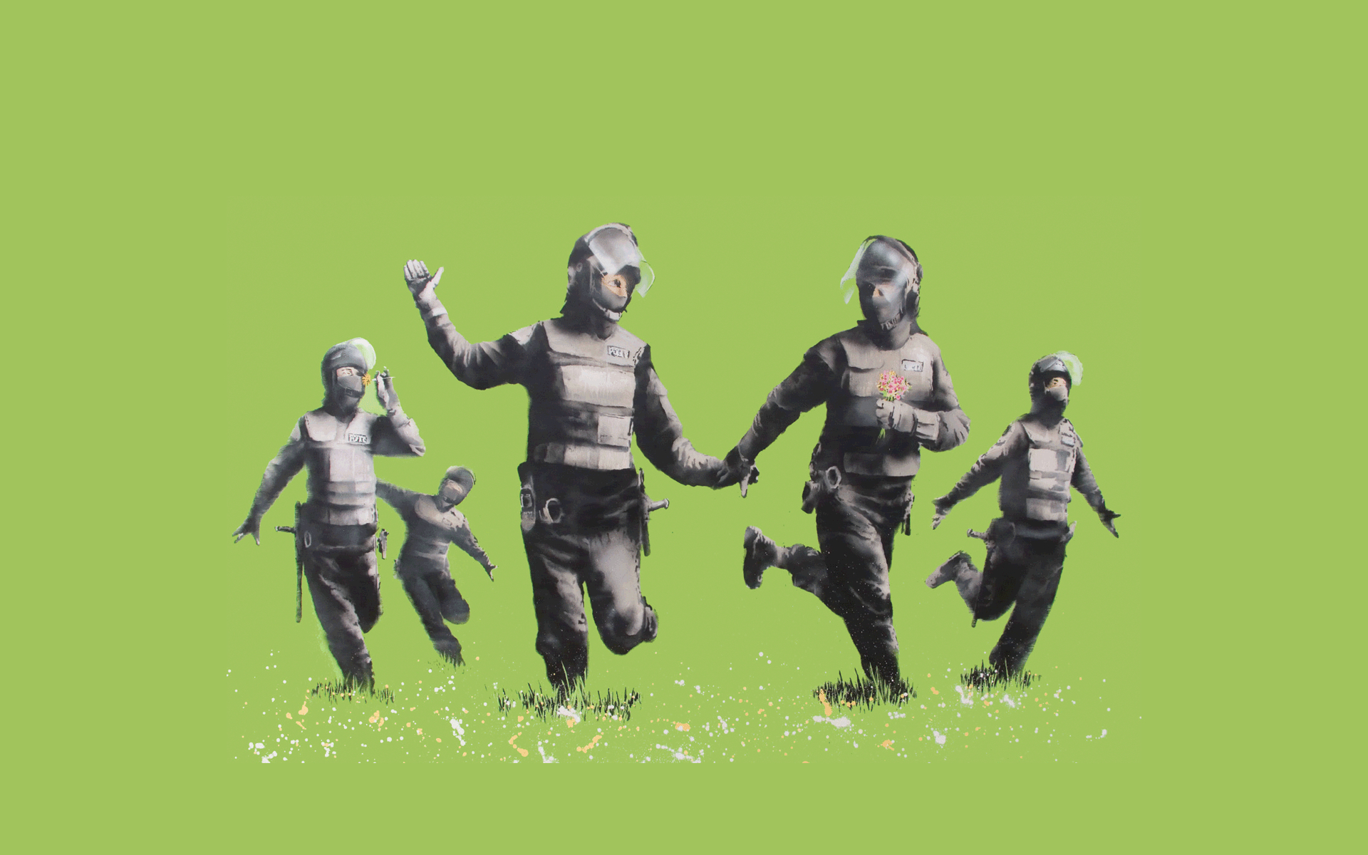 and uncut banksy riotcoppers HD Wallpaper