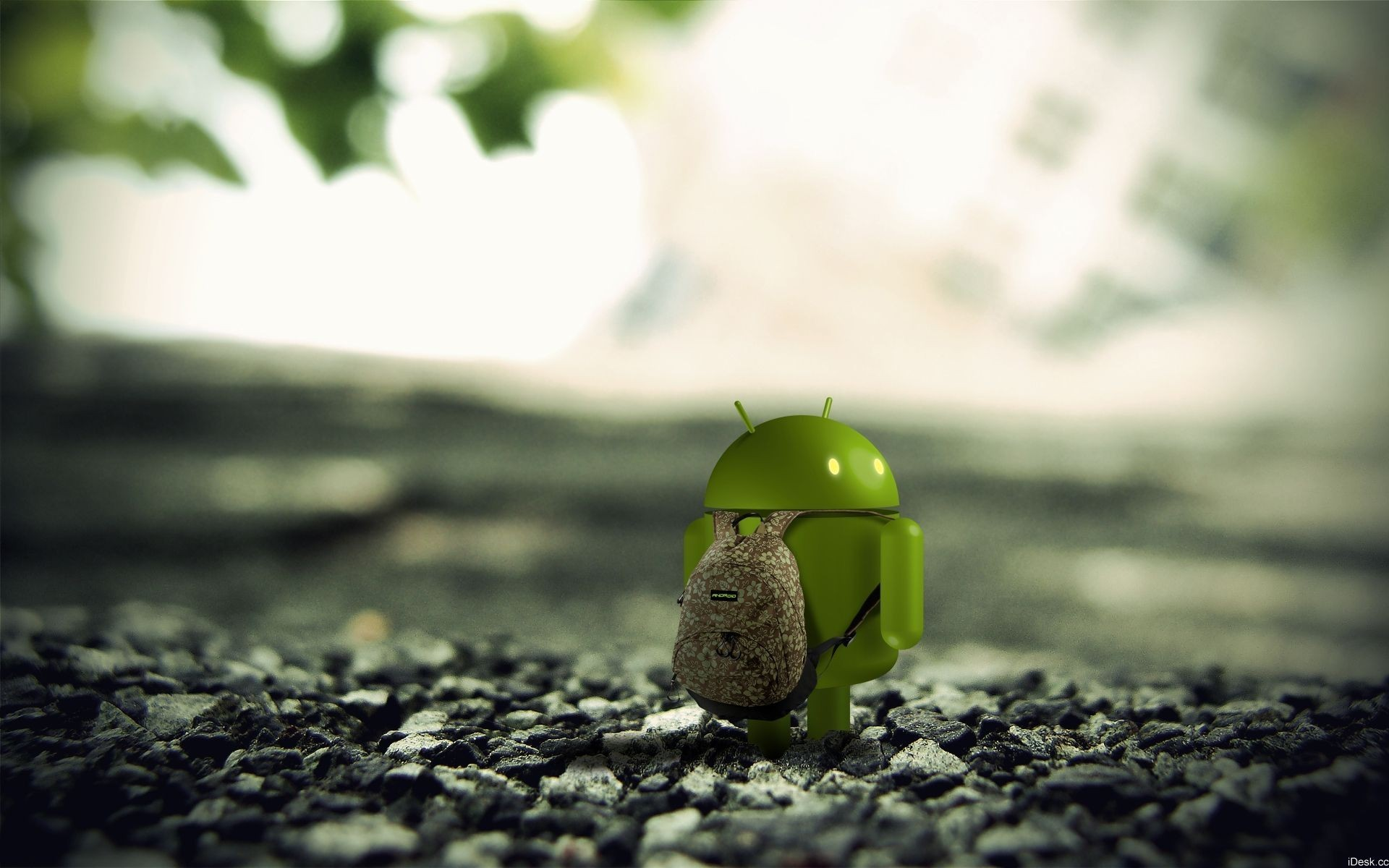 android 3D renders HD Wallpaper