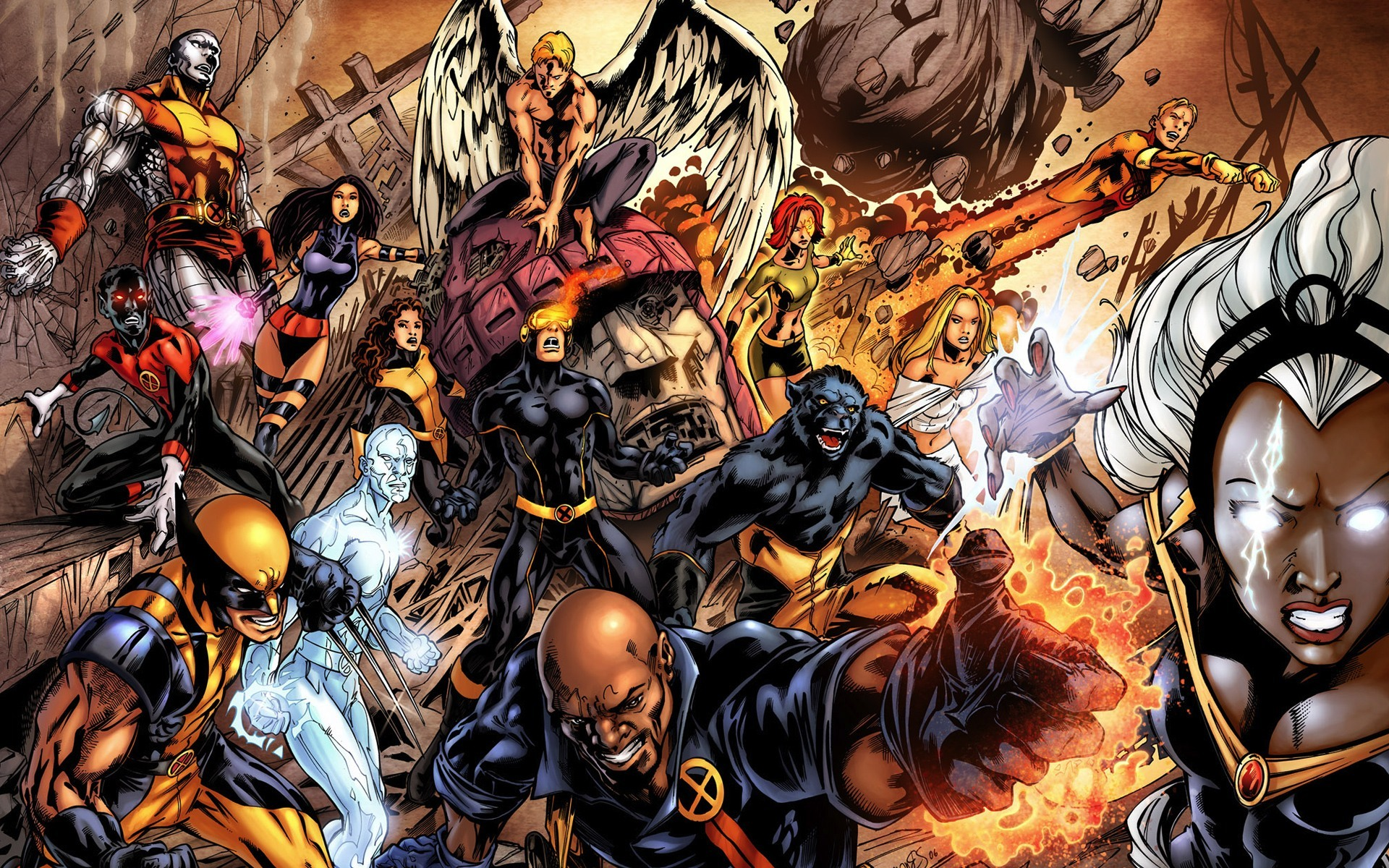 angels comics X-Men wolverine HD Wallpaper