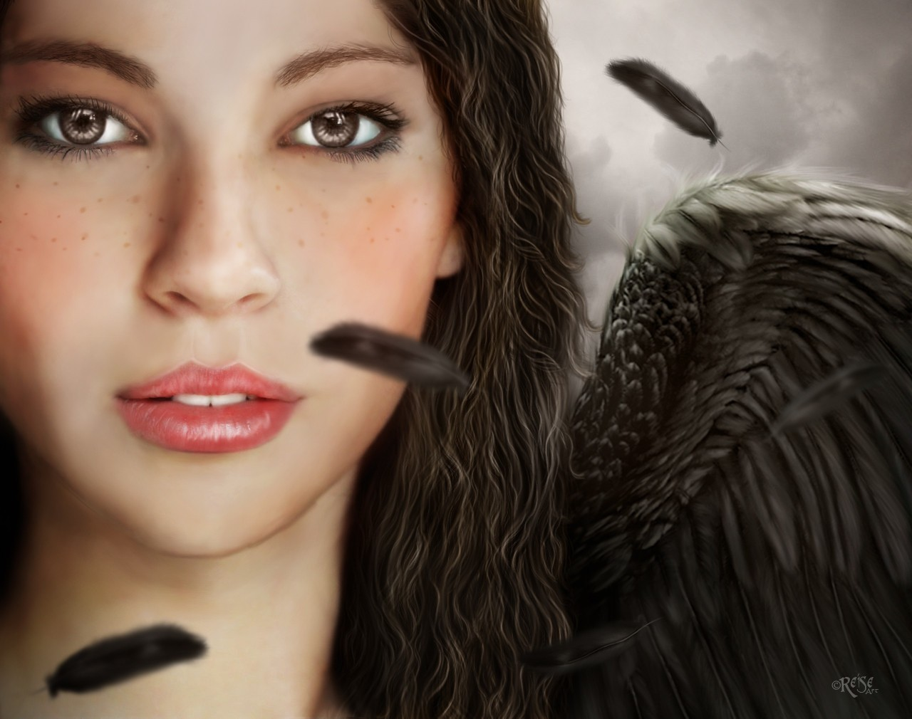angels fantasy wings 3d HD Wallpaper