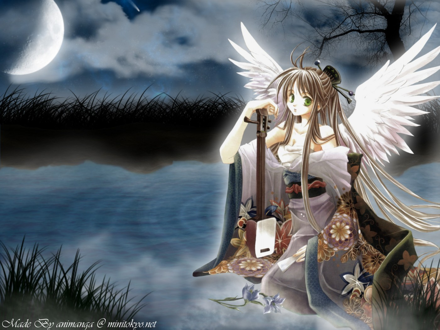 angels ponds Anime anime HD Wallpaper