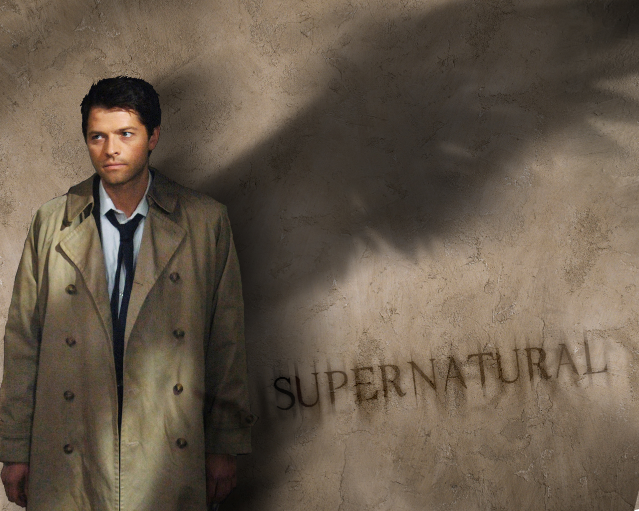 angels Supernatural Castiel Misha HD Wallpaper