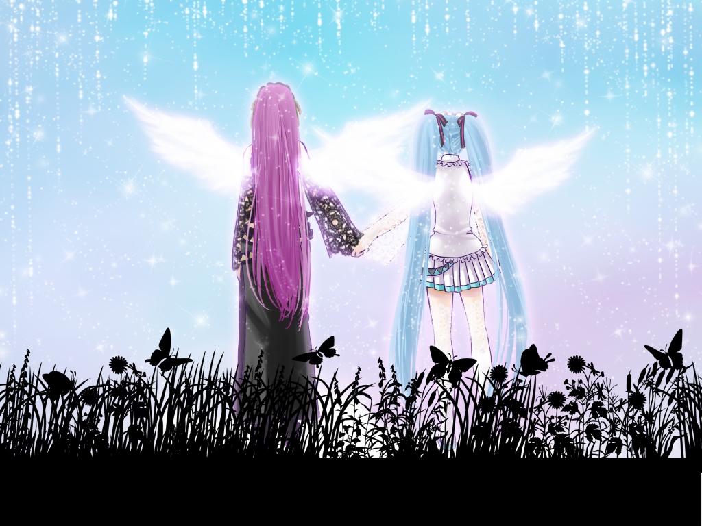 angels vocaloid hatsune miku HD Wallpaper