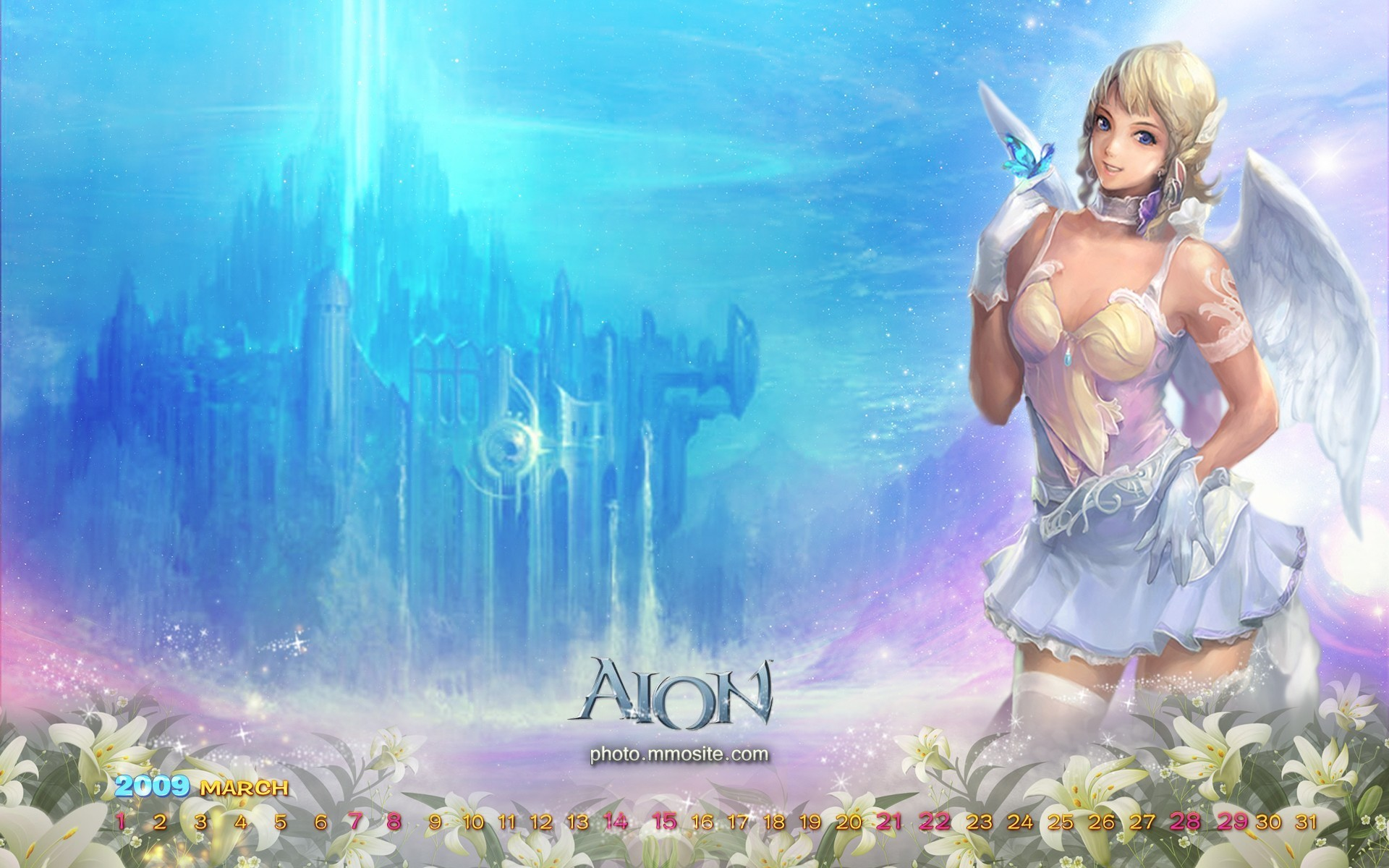 angels wall aion HD Wallpaper