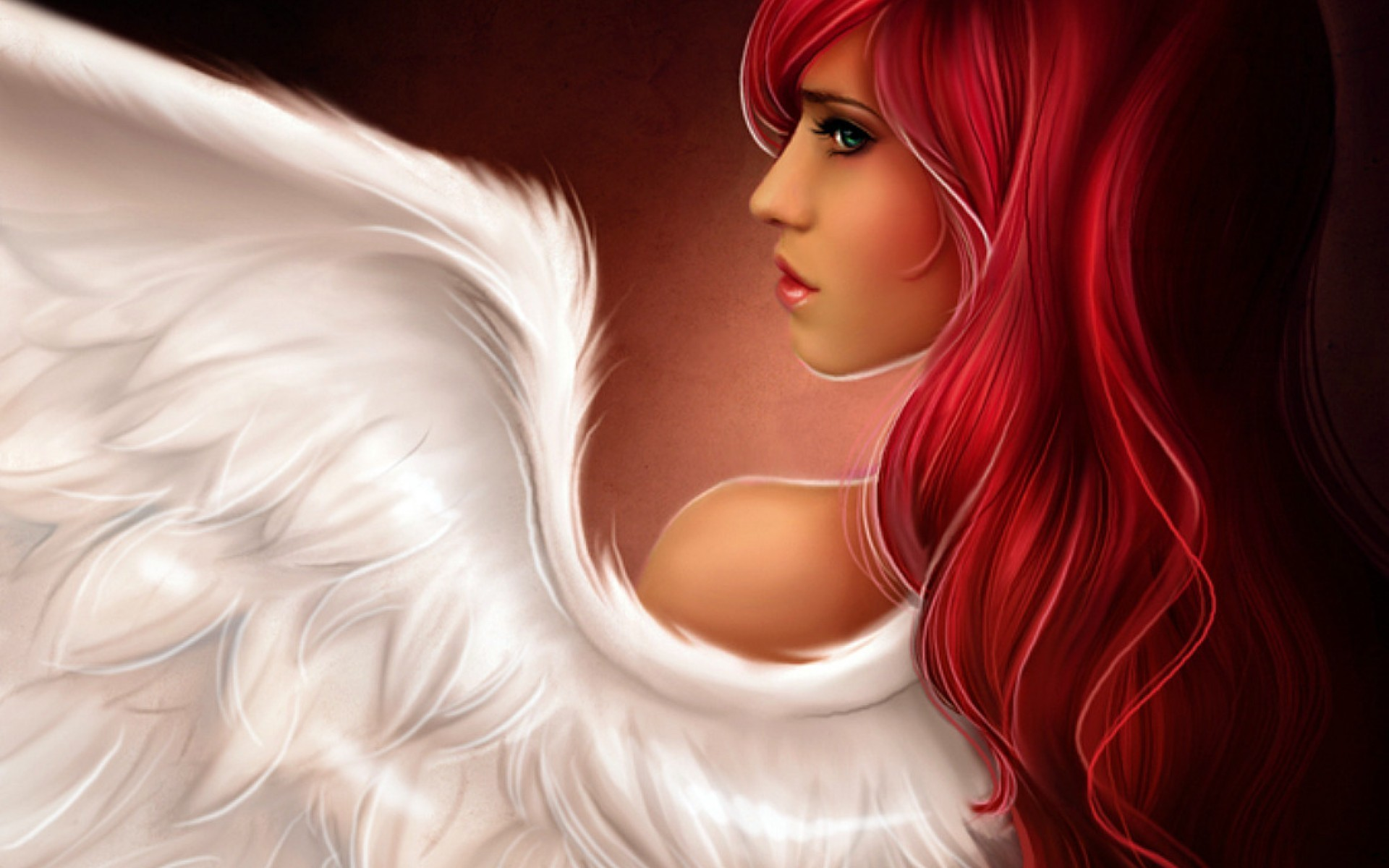 angels woman fantasy wings HD Wallpaper