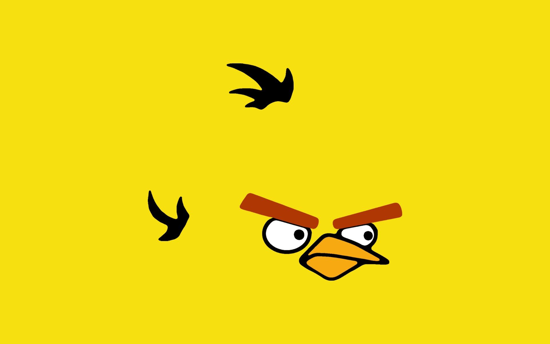 angry birds yellow yellow HD Wallpaper