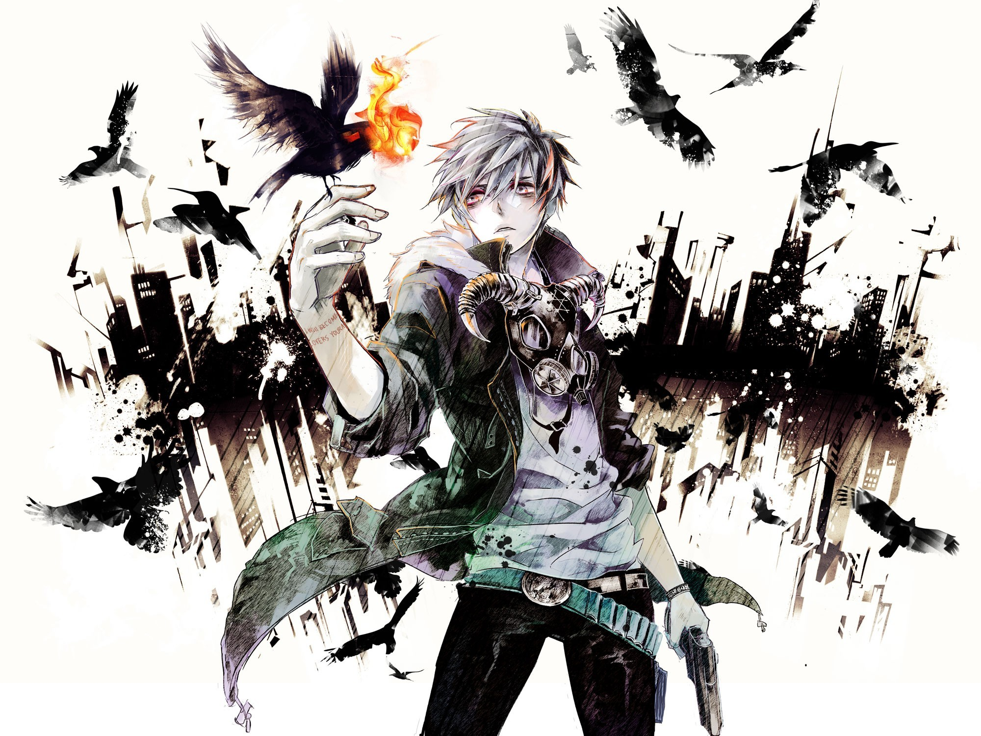 anime boys crows HD Wallpaper