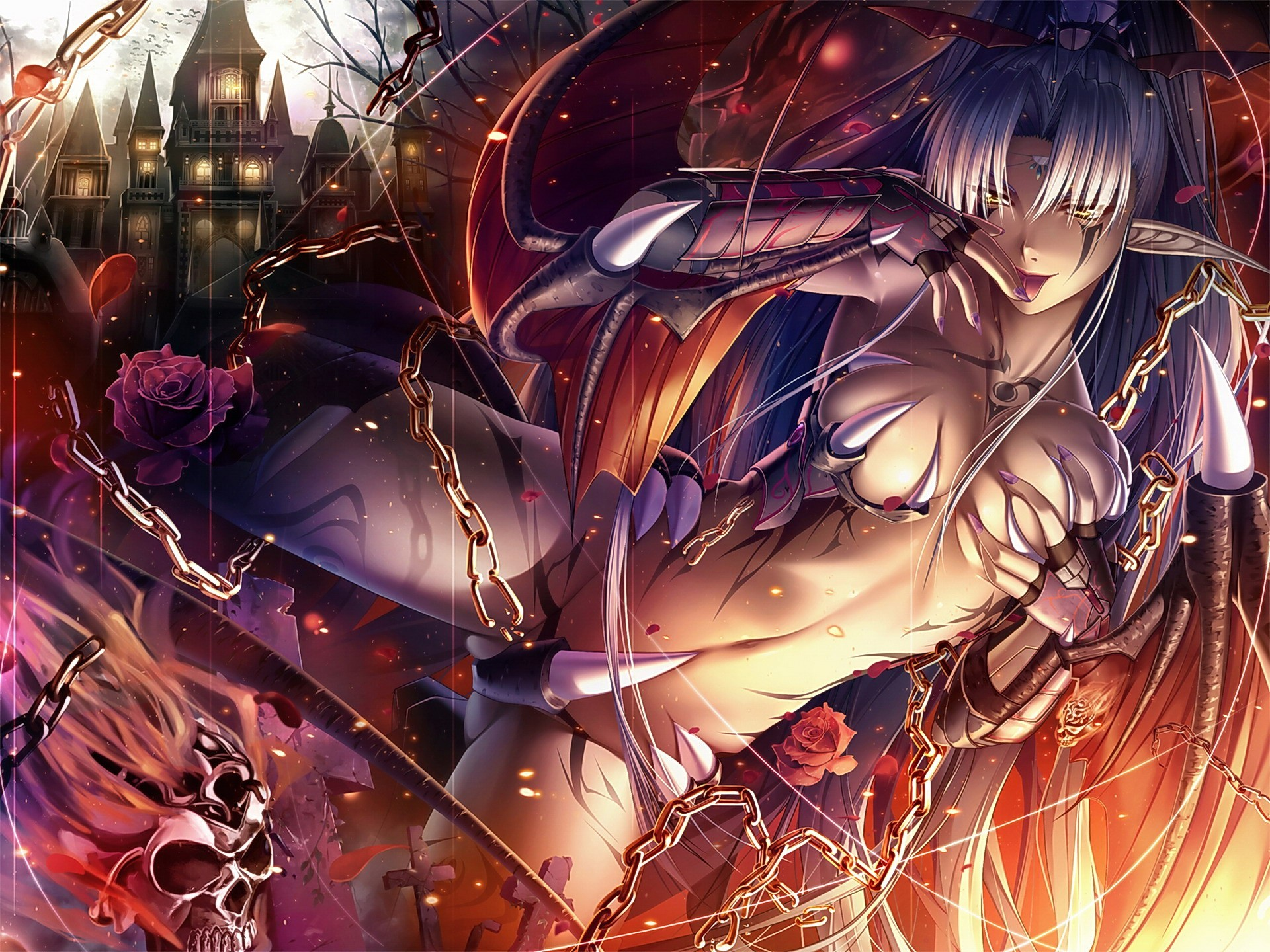 Anime woman original characters HD Wallpaper