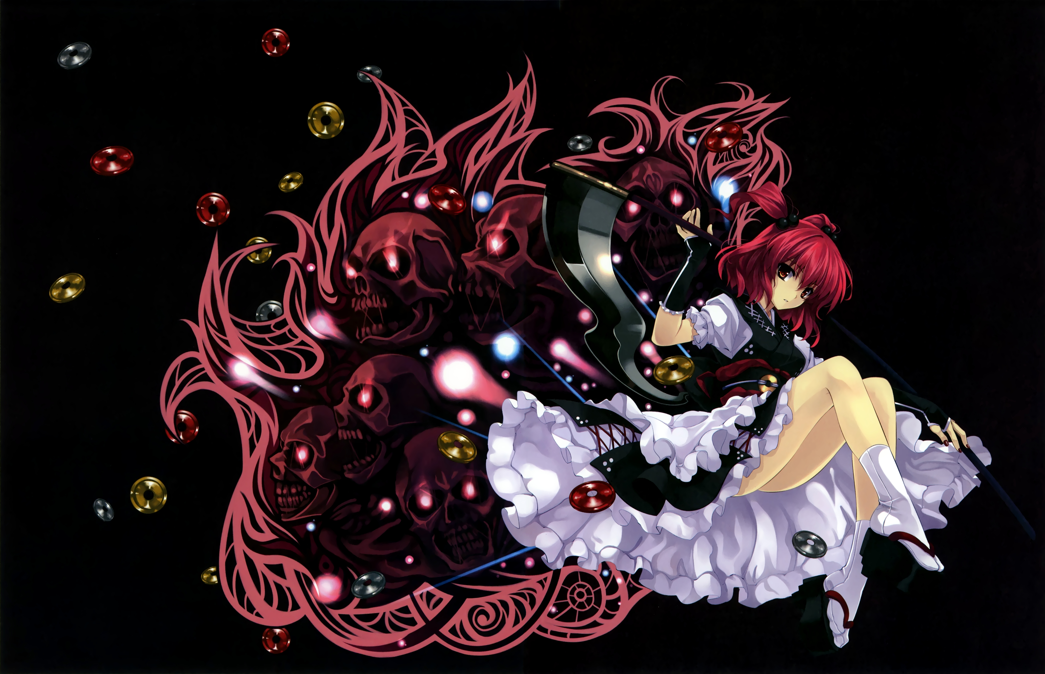 Anime Women touhou scythe HD Wallpaper