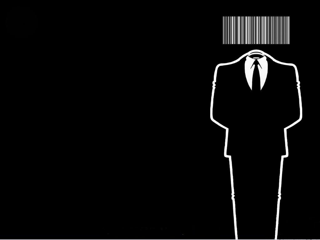 Anonymous barcode black background