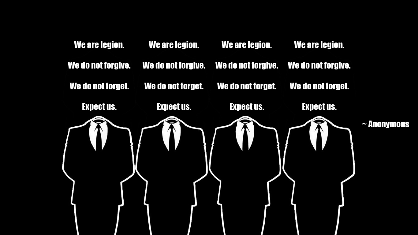 Anonymous government black background HD Wallpaper