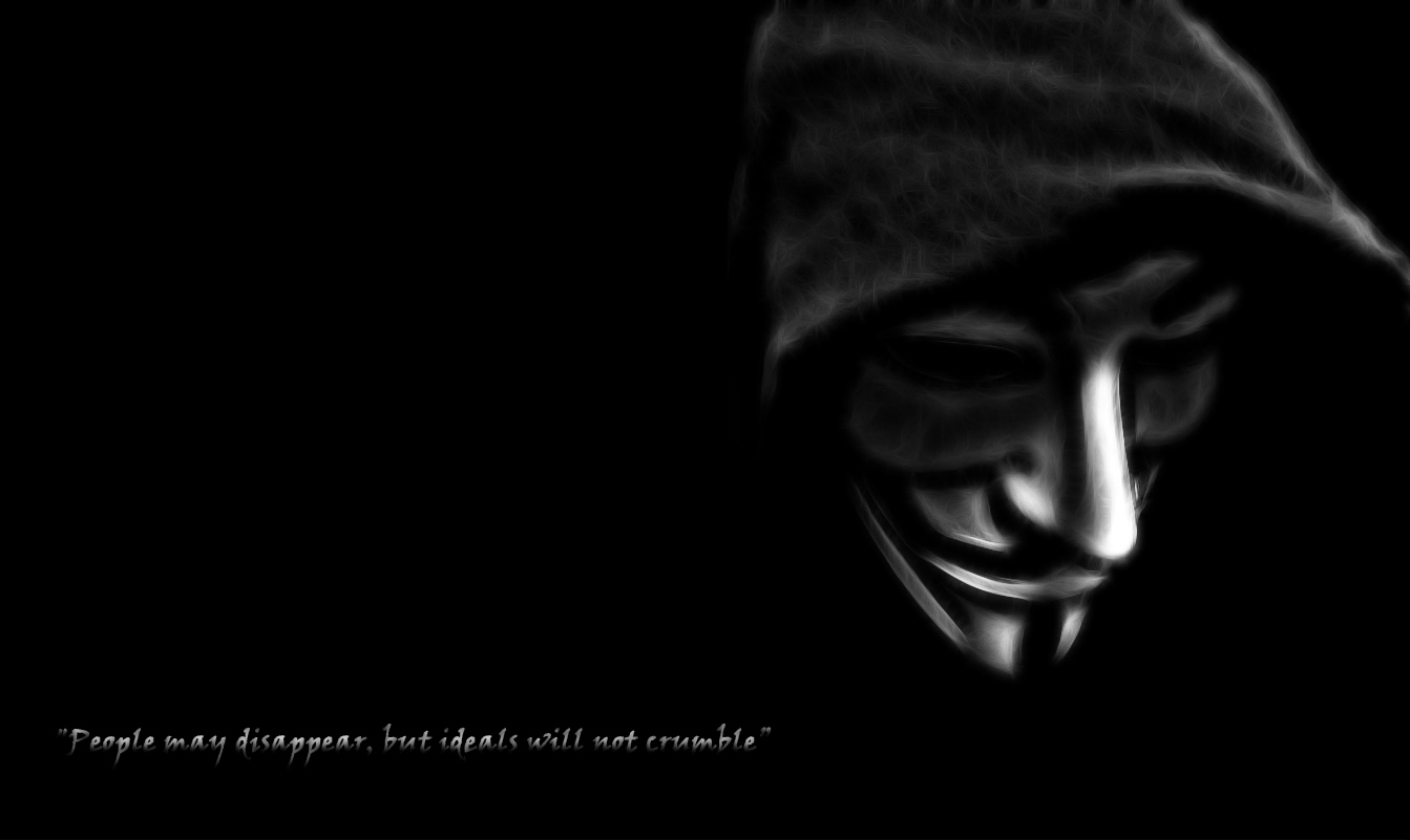 Anonymous Quotes V for HD Wallpaper