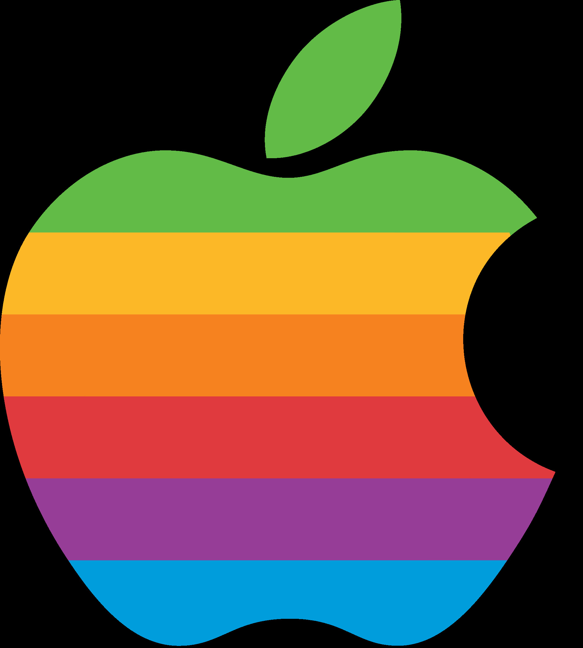 apple computer logo rainbow