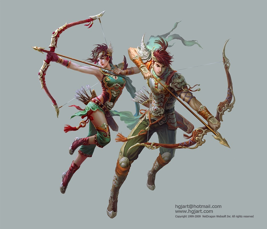 Archers artwork Warriors Huang HD Wallpaper