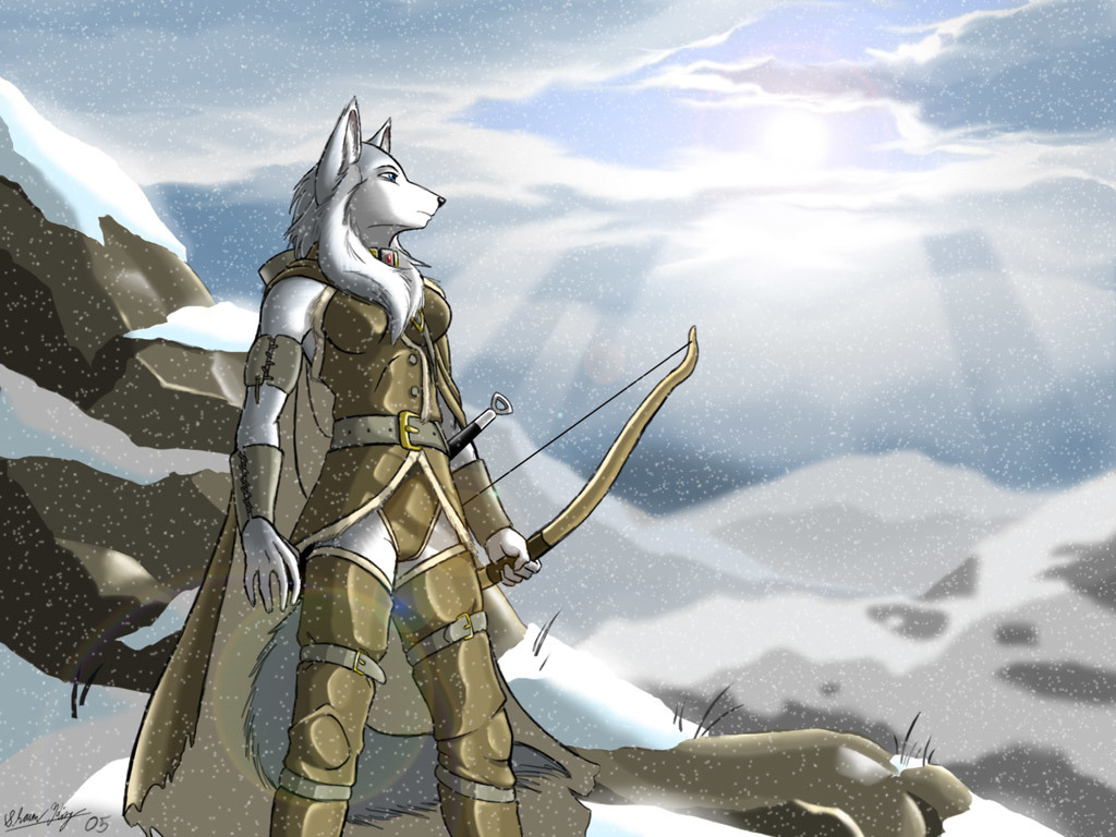 Archers canine bows anthropomorphism HD Wallpaper