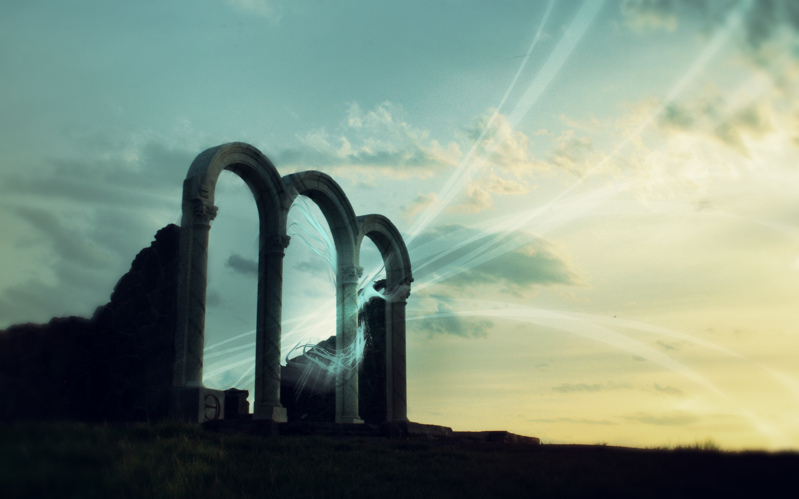 arches night wide have HD Wallpaper