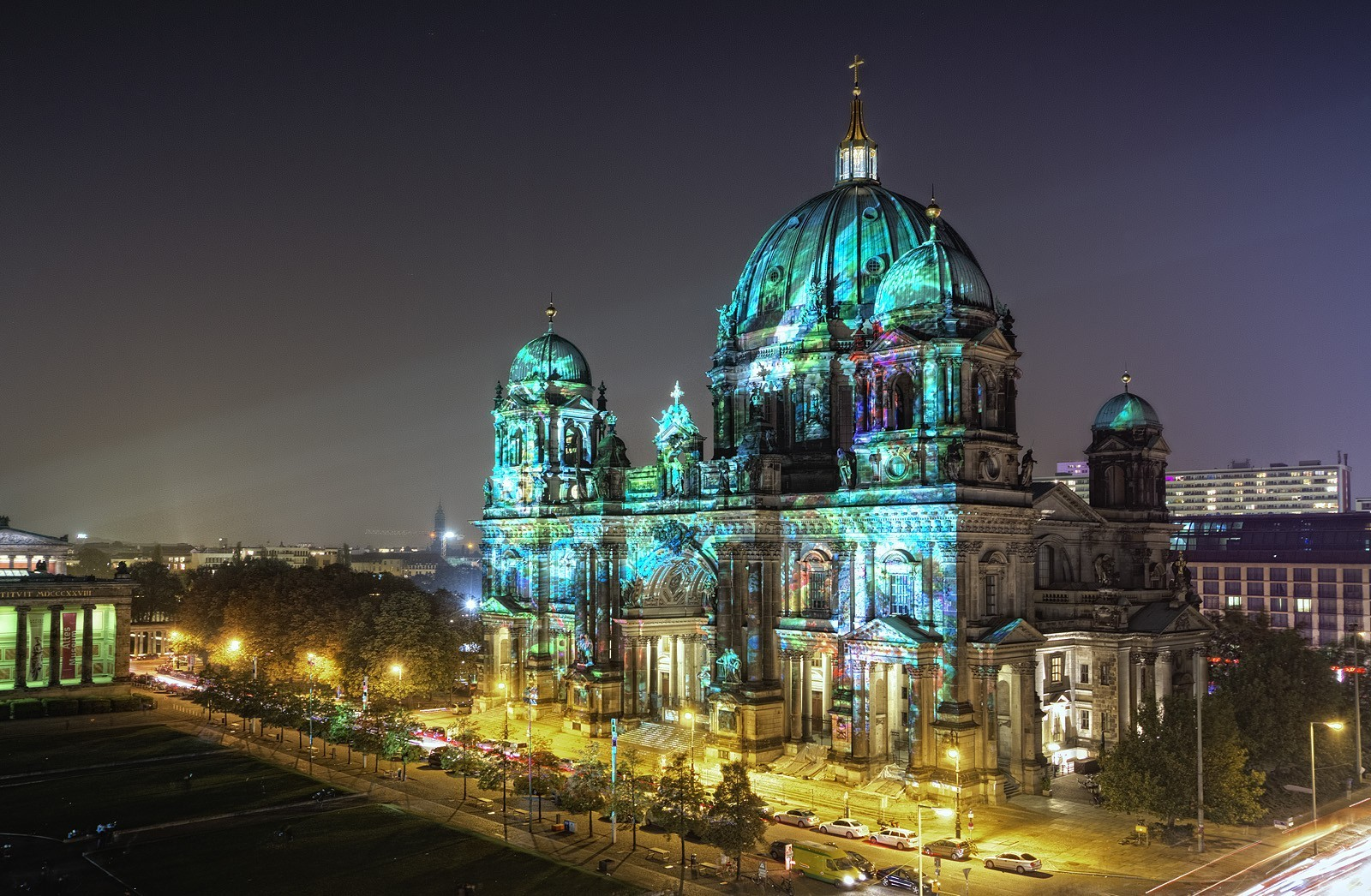 architecture Berlin City Lights HD Wallpaper