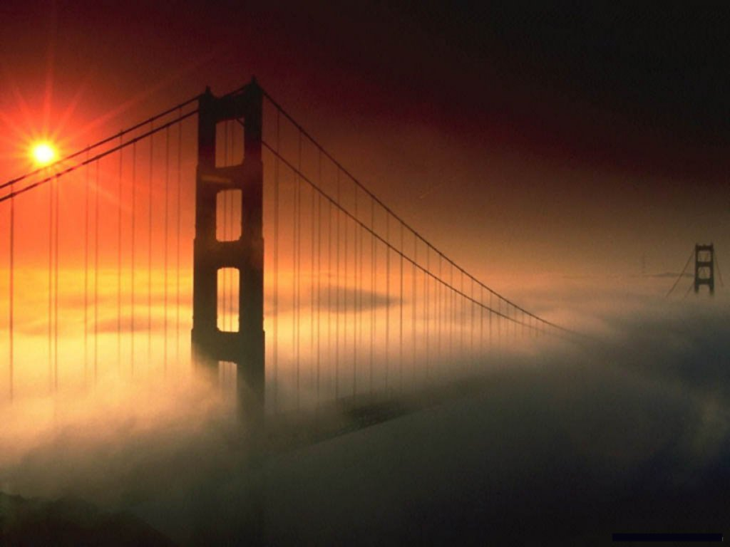 architecture fog Bridges golden
