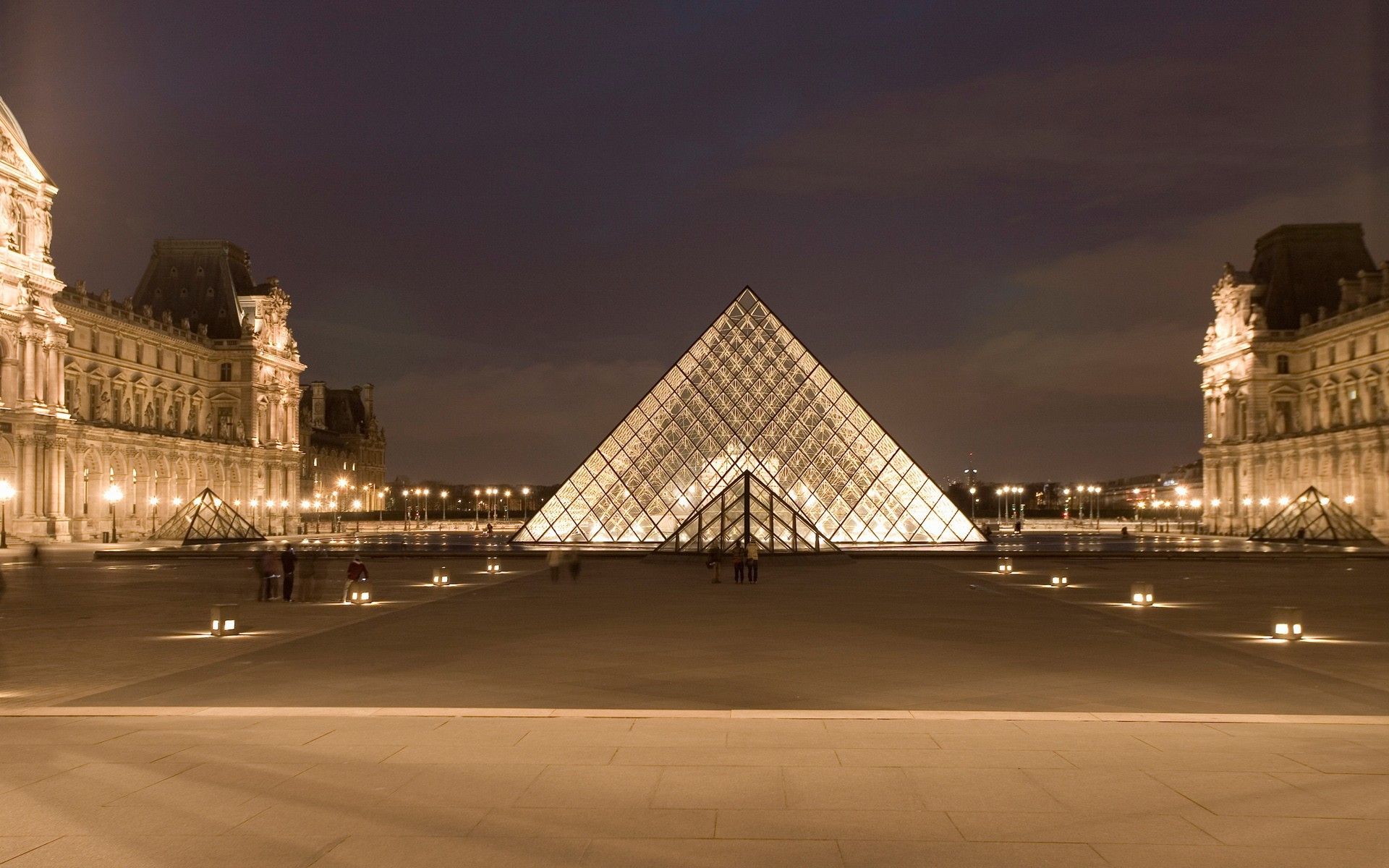 architecture France Louvre museum HD Wallpaper
