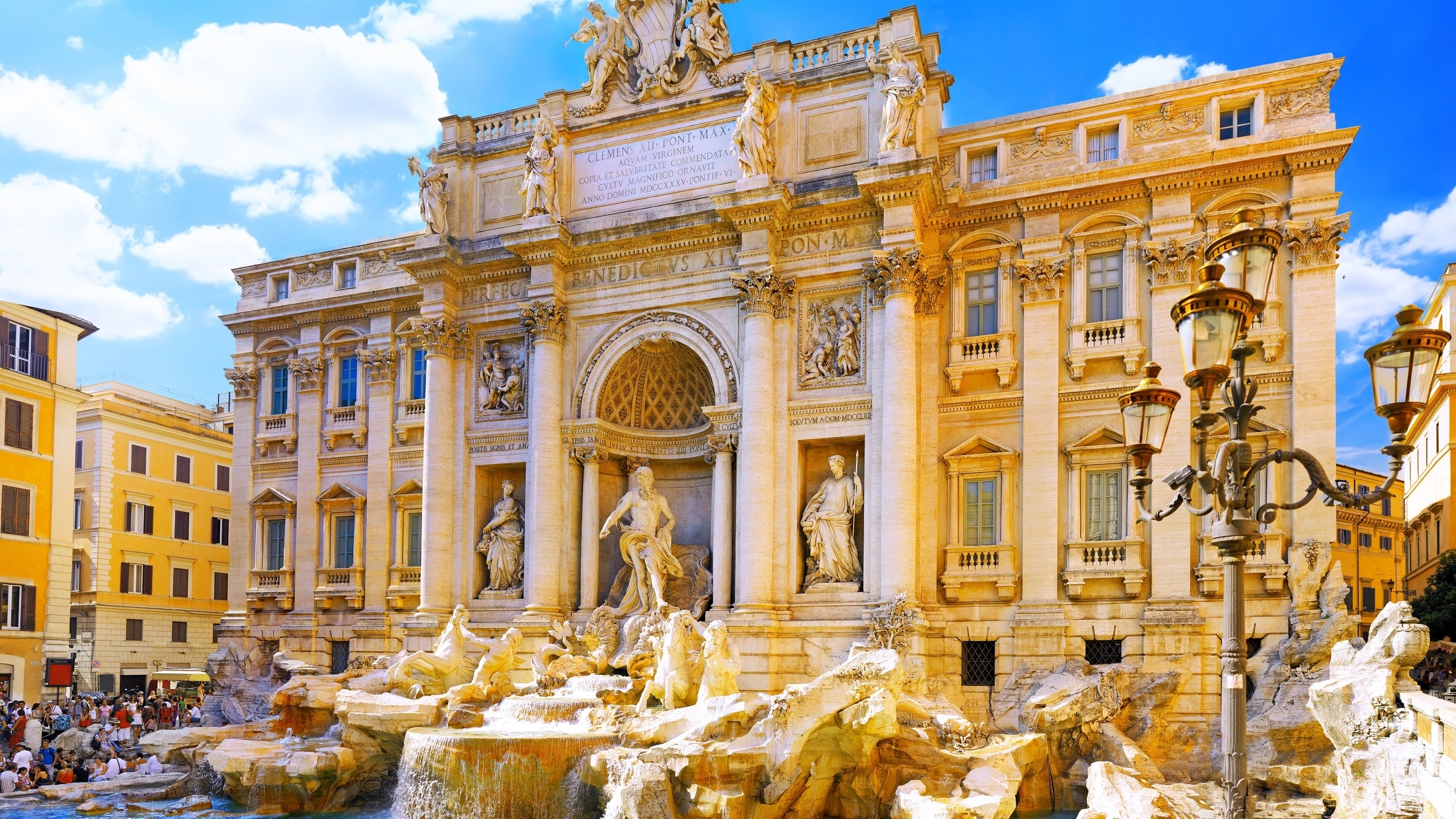 architecture Rome Italy trevi HD Wallpaper