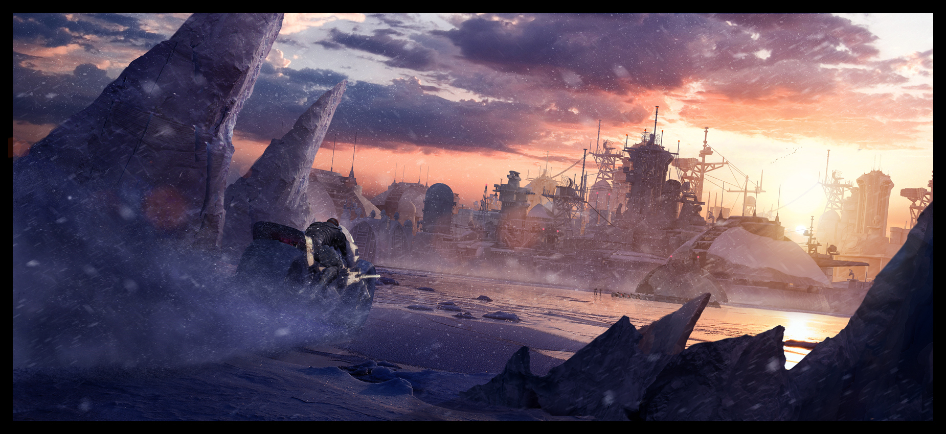 Arctic base by glazyrin HD Wallpaper
