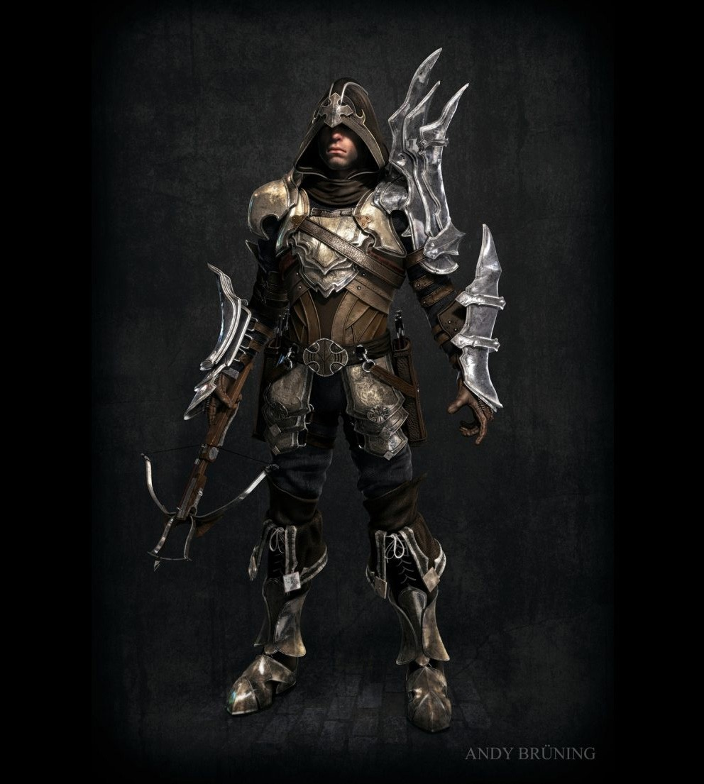 armor demon hunter concept HD Wallpaper