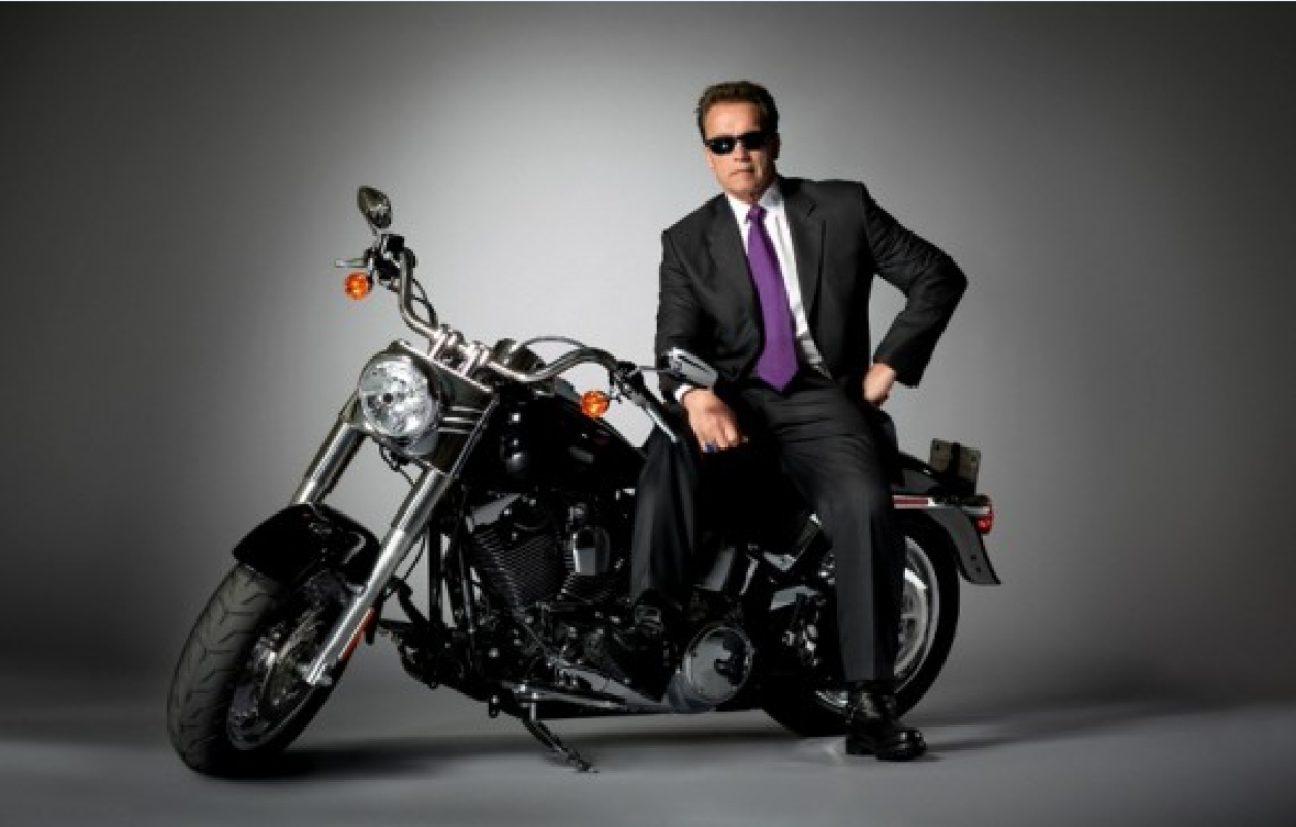 Arnold Schwarzenegger vehicles motorbikes HD Wallpaper