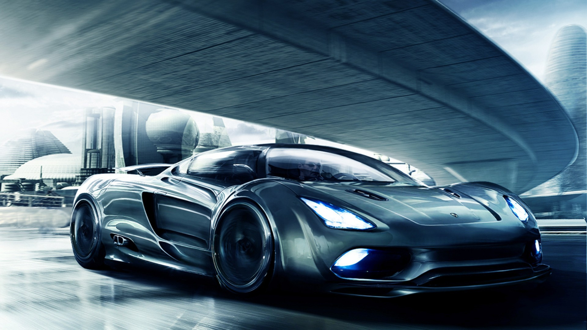 artistic Koenigsegg concept art HD Wallpaper