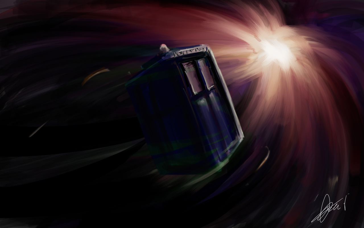 artistic tardis Doctor Who