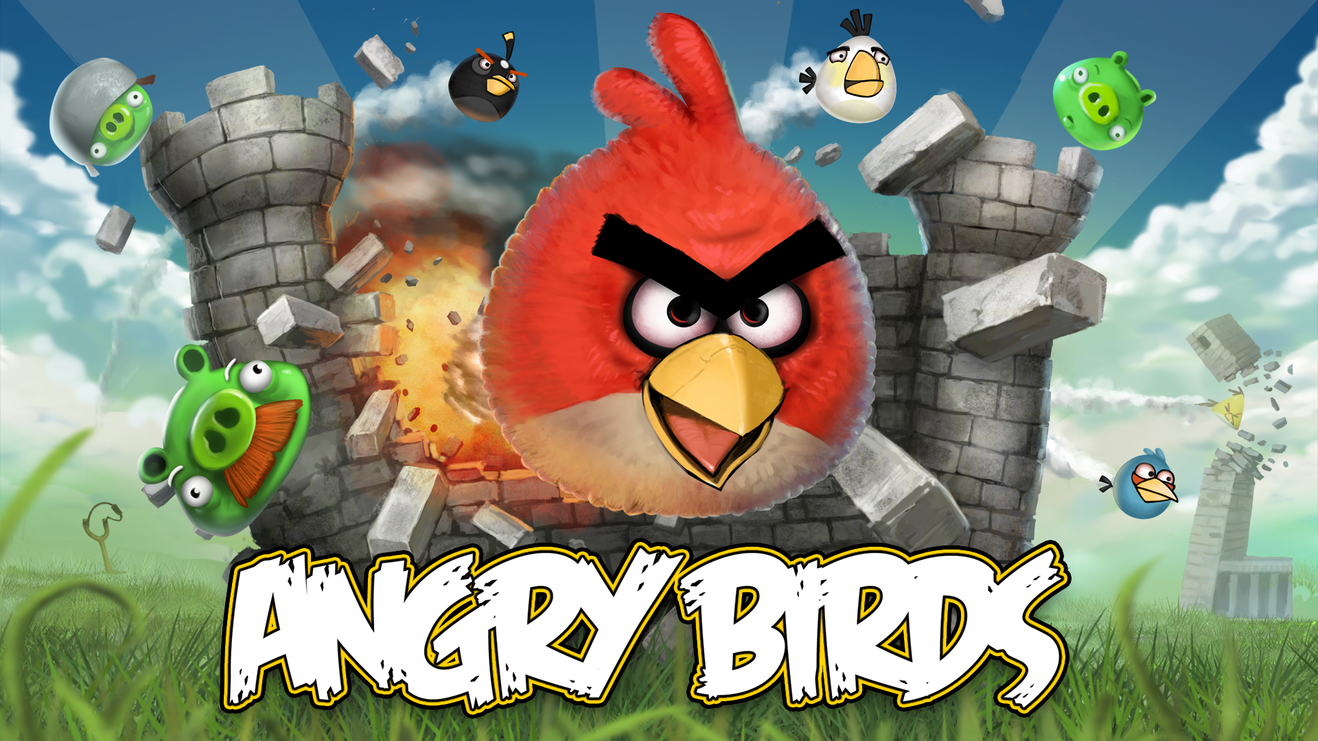 artwork angry Birds HD Wallpaper