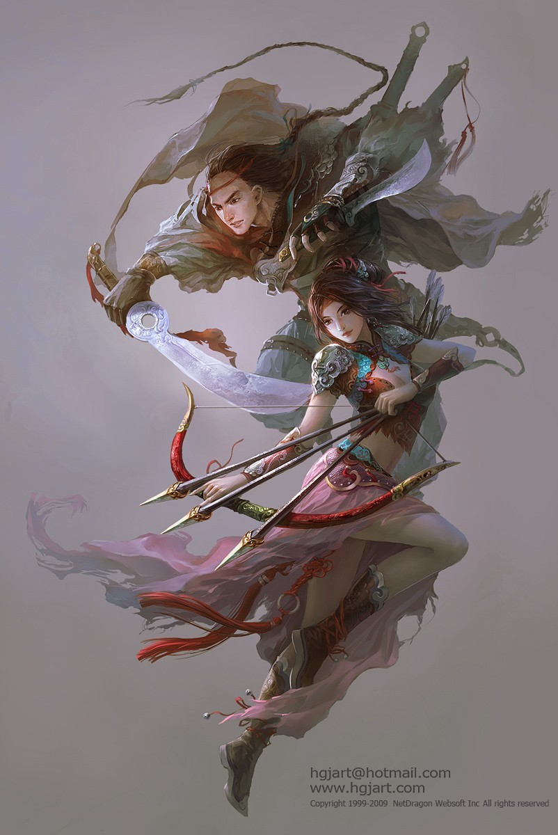 artwork Warriors Huang Mei HD Wallpaper
