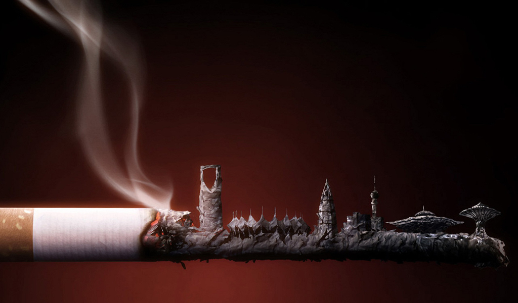 ash (ashes) Cigarettes cities