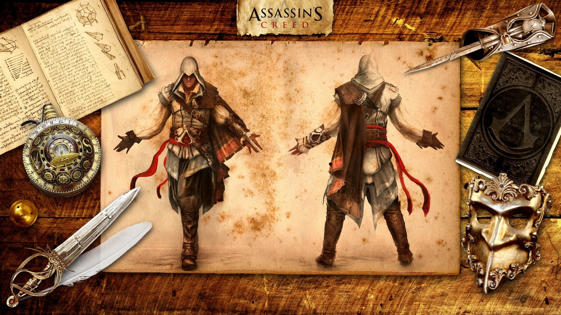 assassins creed ezio auditore HD Wallpaper