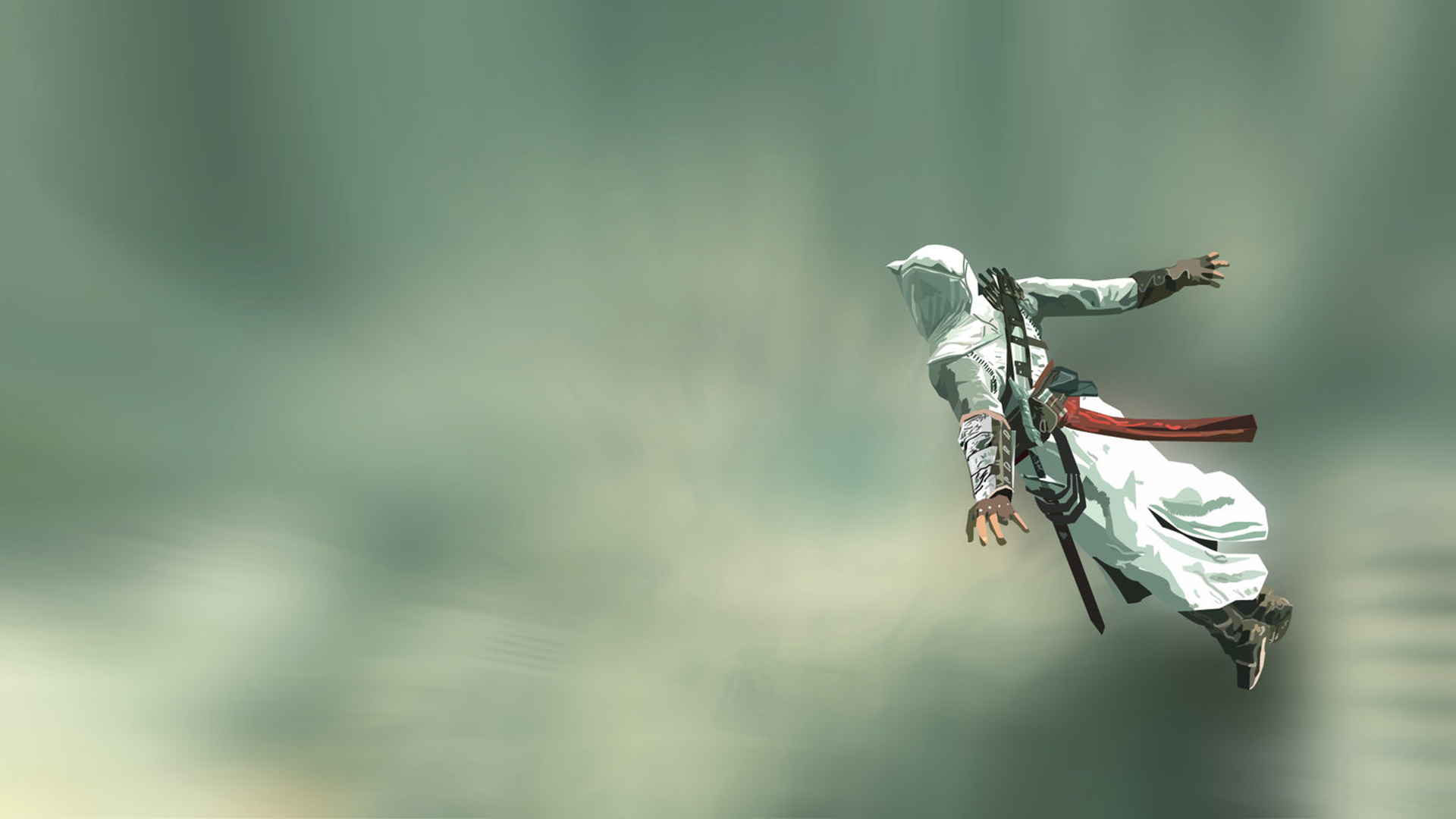 assassins creed jumping artwork HD Wallpaper