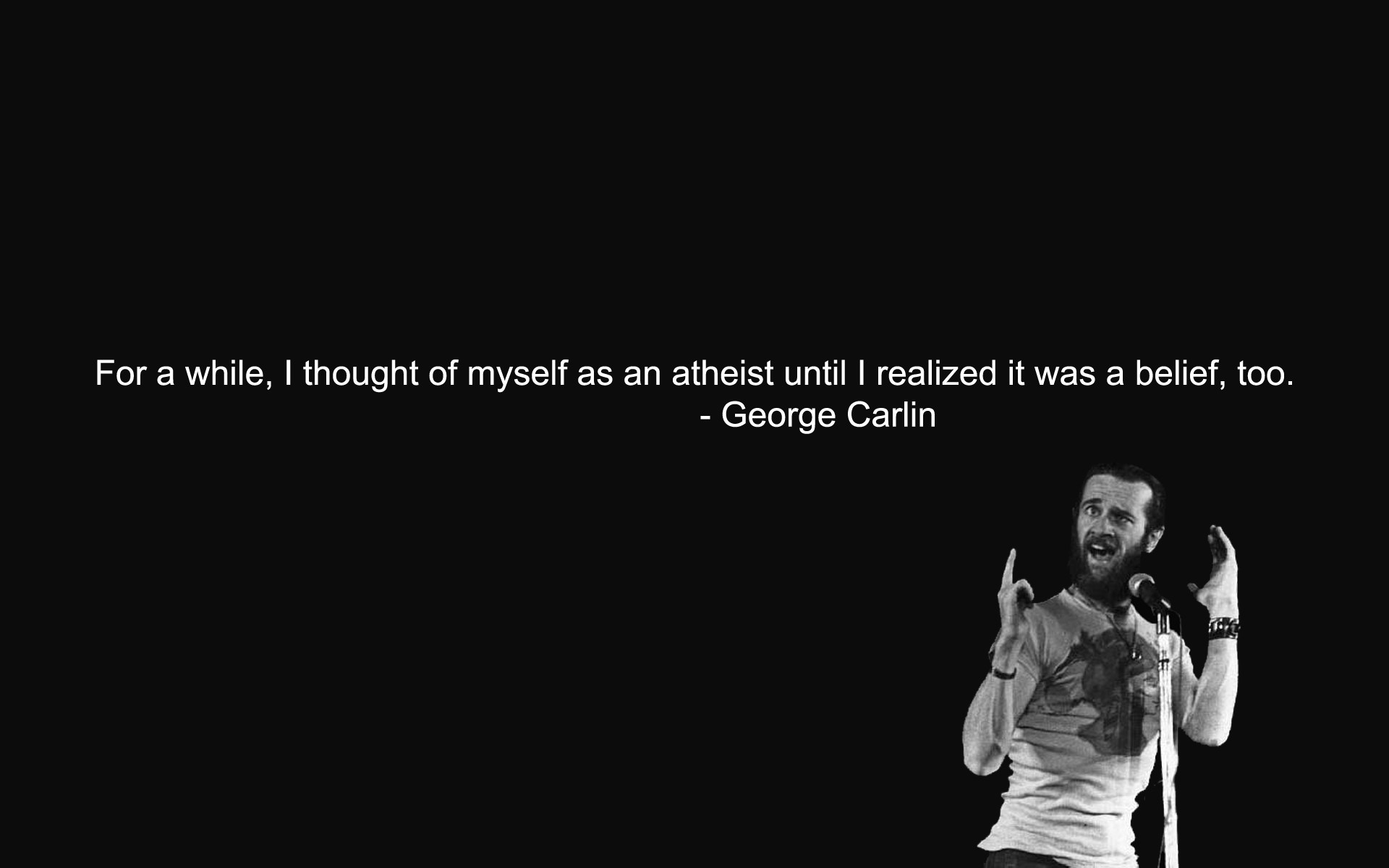 atheism george carlin Quotes HD Wallpaper