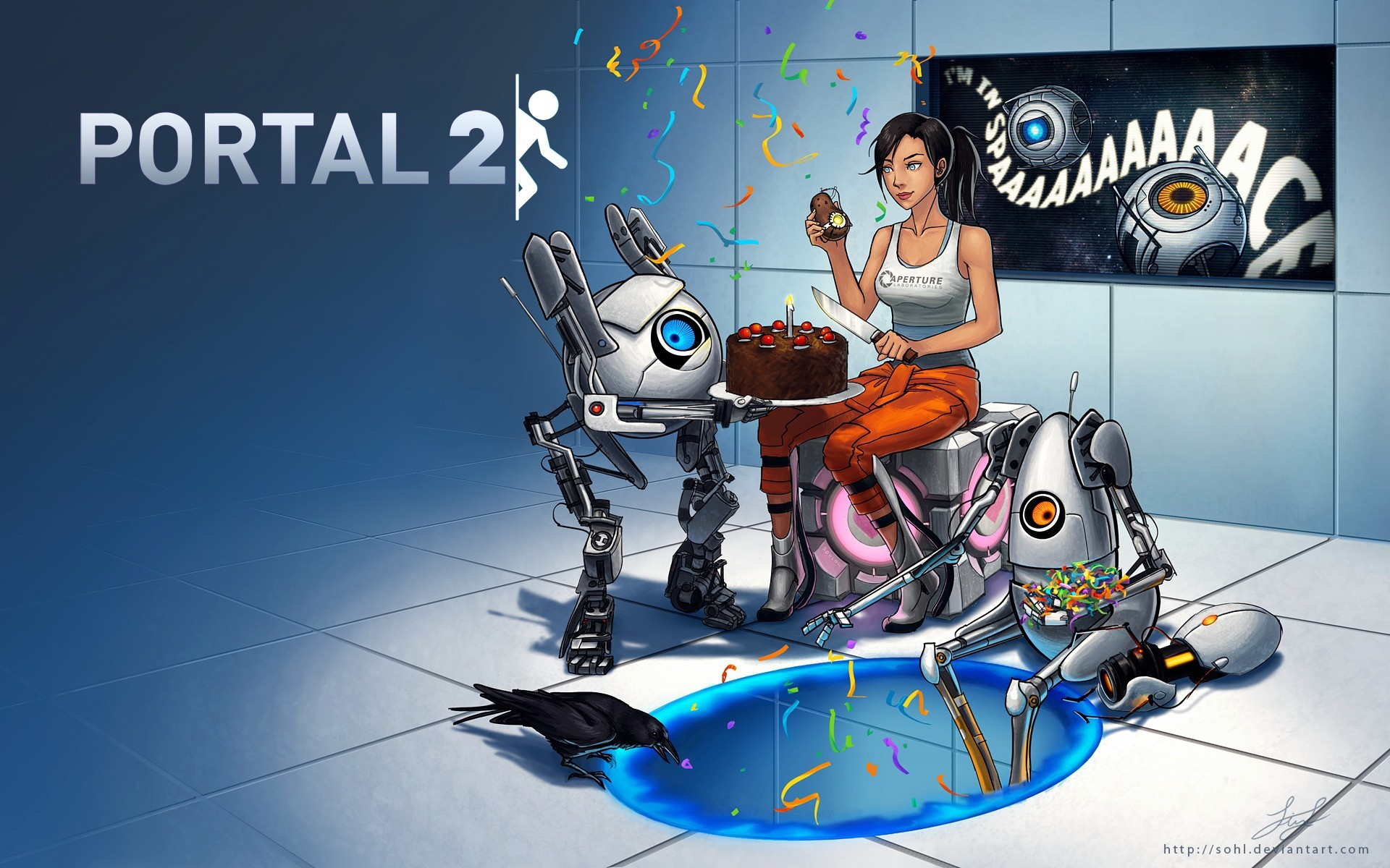 atlas artwork portal 2 HD Wallpaper