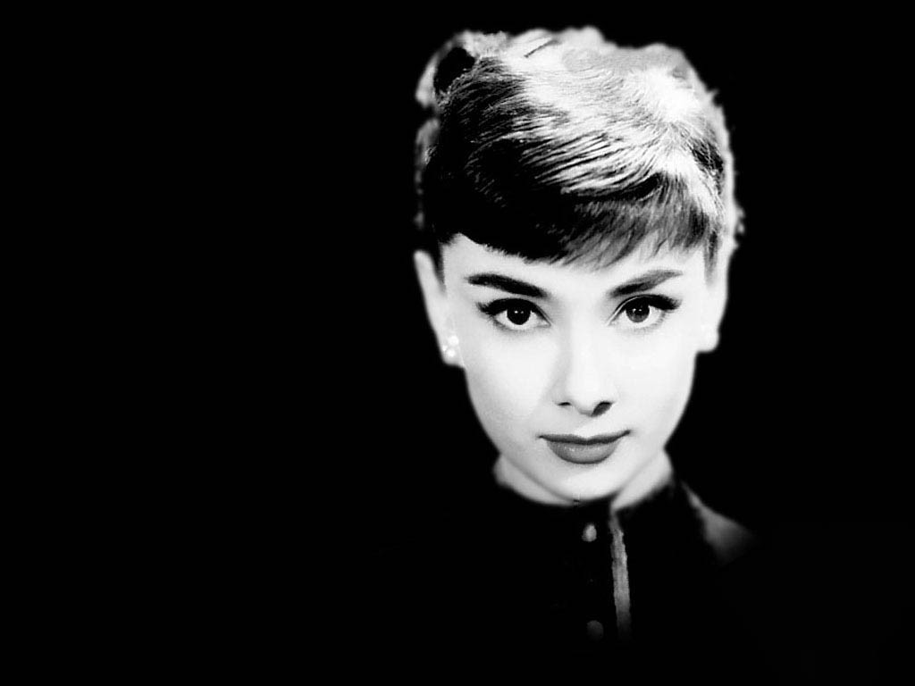 Audrey Hepburn monochrome black HD Wallpaper